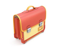 3d illustration satchel Stock Image