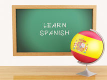 3d illustration. School education concept. Blackboard with learn Royalty Free Stock Photography