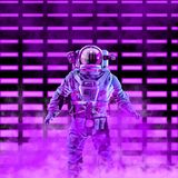 The neon astronaut royalty free stock photography