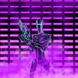 The neon robot trooper stock photos