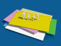 3D illustration of sealed letter Royalty Free Stock Photos
