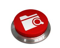Search Folder Icon. 3D illustration -Search Folder Vector Icon Royalty Free Stock Photo