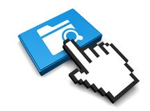 Search Folder Icon. 3D Illustration Search Folder Vector Icon Royalty Free Stock Photography