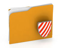 3d illustration of security folder icon - security concept - 3d Royalty Free Stock Photography