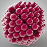3D illustration of shape object consists of balls. Close together Stock Image