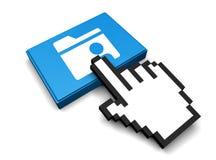 Shared Folder Icon. 3D Illustration Shared Folder Vector Icon Stock Image
