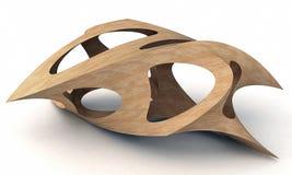 3D Illustration Of Shark Wood Stock Photos