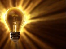 Light bulb background Stock Image