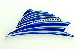 3D Illustration Ship stock images