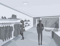 3D illustration of shoppers in store Royalty Free Stock Photography