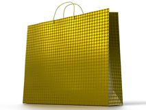 3D illustration of shopping bag isolated on white background. royalty free stock photo