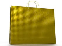 3D illustration of shopping bag isolated on white background. stock images