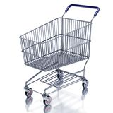 Shopping cart 3d render Royalty Free Stock Photography
