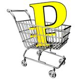 3D Illustration shopping cart Stock Photos
