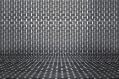 3D Illustration silver iron mesh background 2. 3D Illustration Background wall and floor silver iron mesh Stock Photo