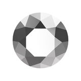 3D illustration silver metal emerald round diamond gemstone Royalty Free Stock Images