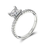 3D illustration silver ring bypass with diamond Royalty Free Stock Photo