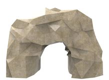 3d illustration of simple cave. Royalty Free Stock Image