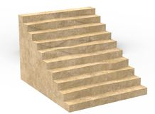 3d illustration of simple stairs. Stock Images