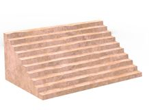 3d illustration of simple stairs. Stock Image