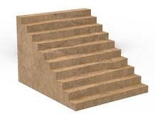 3d illustration of simple stairs. Stock Photography
