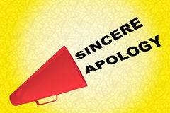 Sincere Apology concept vector illustration