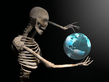 3d illustration of a skeleton gesturing Royalty Free Stock Photo