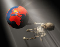 3d illustration of a skeleton gesturing Stock Images