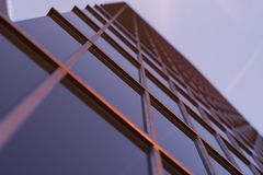 3D Illustration Skyscrapers from a low angle view. Architecture glass high buildings. skyscrapers in a finance district.  royalty free illustration