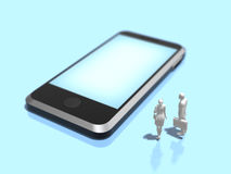 3D illustration of smart phone. Royalty Free Stock Image