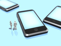 3D illustration of smart phone. Stock Photos