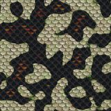 3D Illustration of snake skin Texture Background royalty free illustration