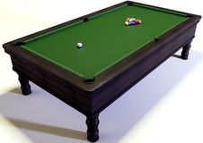 Snooker. A 3d illustration of a snooker Stock Photography