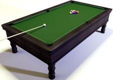 Snooker. A 3d illustration of a snooker Stock Image