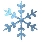 3d illustration of snow flake Royalty Free Stock Image