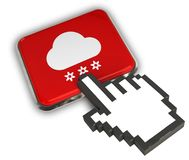 Snowing Icon. 3D illustration of Snowing Icon - Hand Cursor Click Stock Image