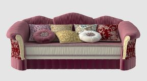 3D Illustration of a Sofa Royalty Free Stock Image