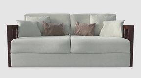 3D Illustration of a Sofa Stock Photography