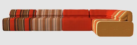 3D Illustration of a Sofa Royalty Free Stock Photo