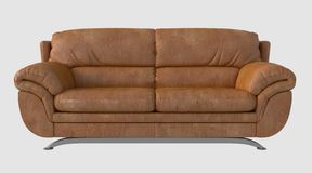3D Illustration of a Sofa Royalty Free Stock Photography