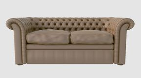3D Illustration of a Sofa Royalty Free Stock Photos