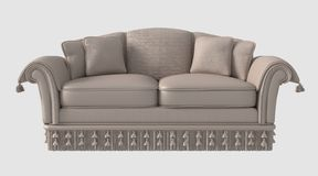 3D Illustration of a Sofa Royalty Free Stock Images