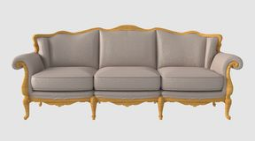 3D Illustration of a Sofa Stock Photo