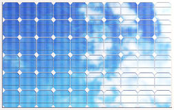 3D illustration solar panels on sky background. Alternative clean energy of the sun. Power, ecology, technology Stock Images