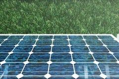 3D illustration solar panels. Solar panel produces green, environmentally friendly energy from the sun. Concept energy Stock Image