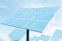 3D illustration solar panels. Solar panel produces green, environmentally friendly energy from the sun. Concept energy Royalty Free Stock Photos
