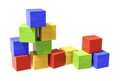 Some colorful building blocks Royalty Free Stock Image
