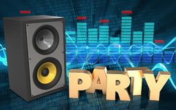 3d party sign party sign Royalty Free Stock Photography