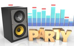 3d party sign sound system Stock Images