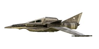 Spaceship fighter isolated on white background Stock Photography